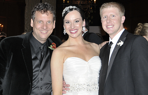 Peter Merry with Kelly & Chris Erdos